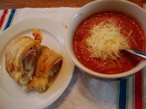 Tomato Bisque w/ Turkey and Havarti Puff Pastry