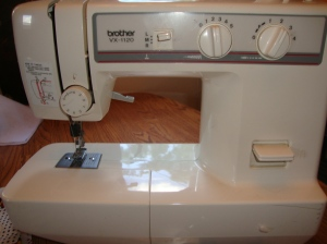 I bought this sewing machine for $15 on Craigslist 5 years ago. :)